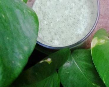 Let´s start green – Green Smoothie Spinat-Kokos