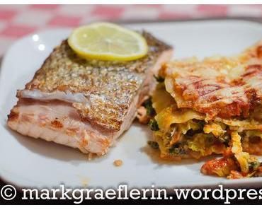 Freitagsfisch: Wirsing-Lasagne und Lachs