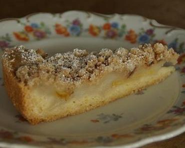 Apfelmus-Pudding-Kuchen
