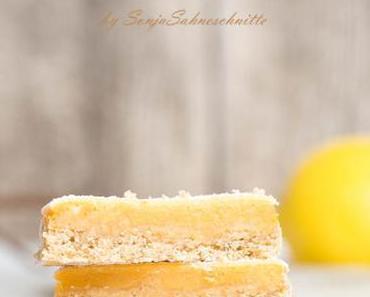 Rezept für saftige Zitronen-Schnitten (glutenfrei)