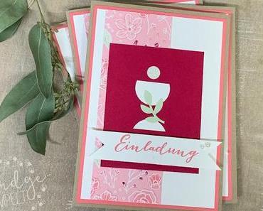 Einladungen zur 1. Heiligen Kommunion eines Mädchens