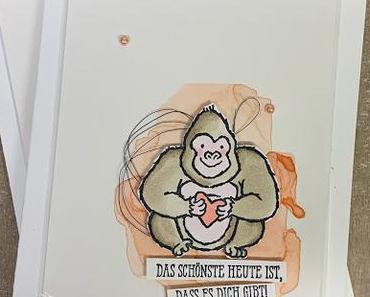 Gorillaliebe zum Valentinstag