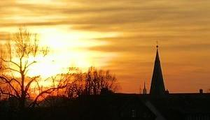 Foto: Sonnenuntergang Westen