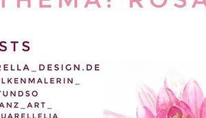 Hey! Unsere 7-Tage Kunst-Challenge wieder Unser Thema diese Woche Rosa, geht auch Farbtönen Pink, Magenta, usw. könnt dann Tage lang Kunstwerk diesem kreieren. Medium egal, Aquarell, Acrylic us...