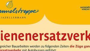 Mariazellerbahn: Modernisierungsarbeiten Schienenersatzverkehr