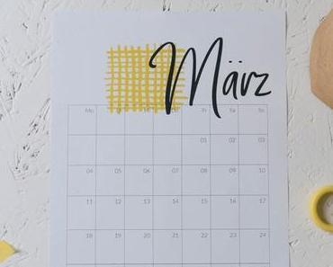 Freebie Kalender 2019 – März