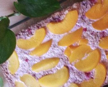 Baked Oatmeal mit Pfirsichen [vegan]