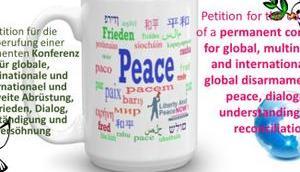 Öffentliche Petition Deutschen Bundestag globale Abrüstung Frieden