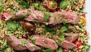 Lammfilet orientalischem Bulgur-Salat
