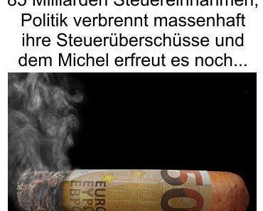 Neue 85 Milliarden Euro Steuerlücke, doch auch dies ist nur die Spitze des Eisberges