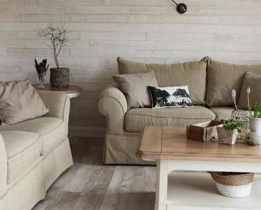 Natürlich renoviert und dekoriert: das Wohnzimmer ist fertig!
