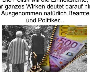 Deutschland auf dem Weg zur Einheitsrente, die Respektrente ist nur der Anfang