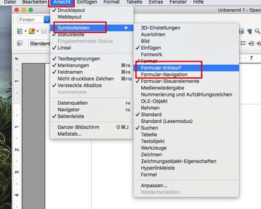 Wie können kostenlos PDF Formulare schnell mit OpenOffice erstellt werden?