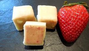 Erdbeeressig Pralinen
