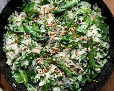 Orzo-Salat mit Spargel