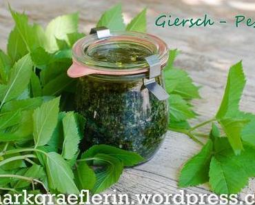 Aus der Wildkräuter-Küche: Giersch-Pesto