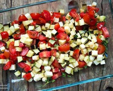 Risotto mit gerösteten Auberginen & Tomaten