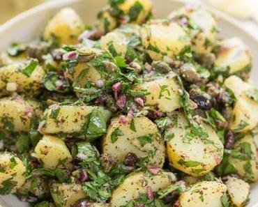 Mediterraner Kartoffelsalat mit Sumach-Dressing