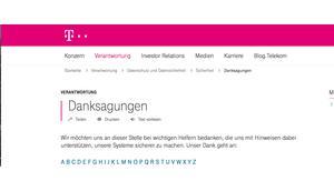 """Gemeldete Telekom Sicherheitslücke Prepaid Karten immer noch """"Hall Fame"""" vermerkt"""
