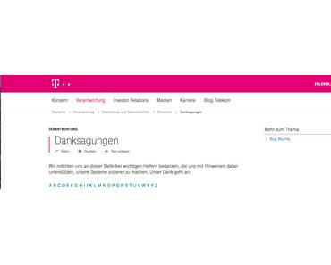 """Gemeldete Telekom Sicherheitslücke mit Prepaid Karten immer noch in der """"Hall of Fame"""" vermerkt"""