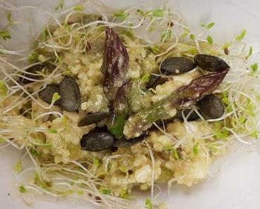 Grüner Spargel-Hirsesalat mit Feta (lacto-vegetarisch)