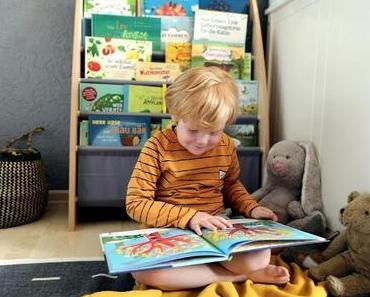 Lesen, Entdecken und Staunen - eine Leseecke mit Bücherständer von Spielheld