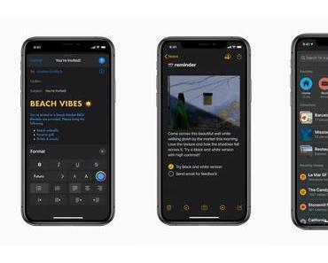 WWDC 2019: Apple präsentiert iOS 13 mit Dark Mode, Swipe-Tastatur, Performance-Verbesserungen