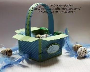 Osterkorb mit Umschlag Stanze