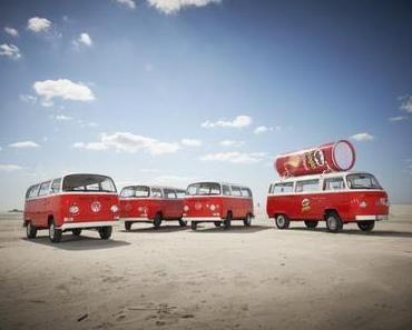 VW T2 Bullis werben für Pringles Chips