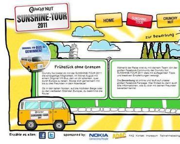 VW T2 Camping Bus Kellogs Crunchy Nut Sunshine Tour 2011 Gewinnspiel