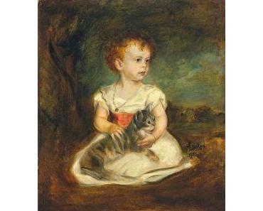 Franz von Lenbach, Kinderbildnis mit Katze, 1903