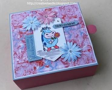 Geburtstags Cookie Box mit kuhlen Grüßen