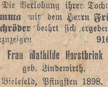 Vita Burkhardti Brinkmanni, Teil 1: Der Mutterseite Abstieg aus dem Kleinbürgertum
