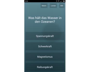 Quiz-App Endlosquiz im Kurztest