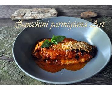 Zucchini parmigiana Art