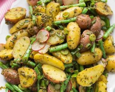 Chimichurri Kartoffelsalat mit grünen Bohnen