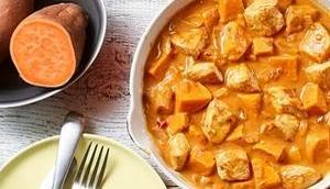 Süßkartoffel-Puten Gulasch