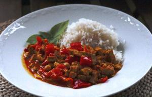 Mein vegetarisches Madras-Curry