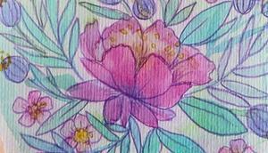 Experimente verschiedenen Aquarell Farben meinem lieblings Buntstift Outlines. #aquarellmalerei #aquarellpapier #aquarell #aquarellflowers #postkartenliebe #illustration #blumenillustration #fabercastel #schminckeaquarell #waterc...