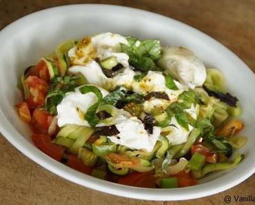 Nachgemacht: Zucchini-Spaghetti mit Burrata
