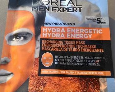 [Werbung] L'ORÉAL PARIS MEN EXPERT Hydra Energy energiespendende Tuchmaske
