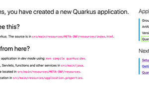 "Quicktest: Gestern wurde Quarkus 0.24.0 released ""Container First"""