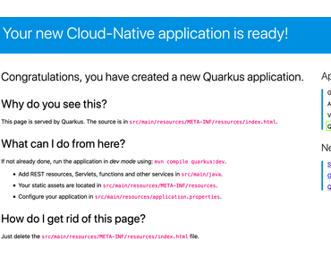 "Quicktest: Gestern wurde Quarkus 0.24.0 released – ""Container First"""