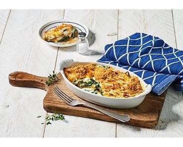 Spinat-Kürbis Lasagne mit Schafskäse