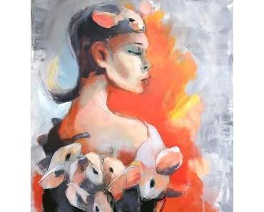 Olga David zeigt ihre Gemälde in Shanghai
