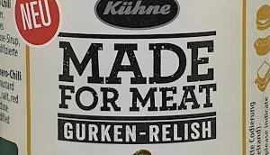 Kühne Made Meat Gurken-Relish Habanero Mustard