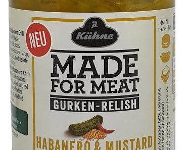 Kühne - Made for Meat - Gurken-Relish Habanero & Mustard