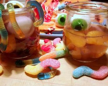 Süßes & Saures für die Halloween -Party - Kürbiskuchen & saure Bowle für Kids
