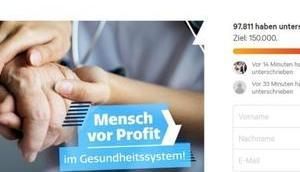 Mensch Profit: Ökonomisierung deutschen Krankenhäusern abschaffen!