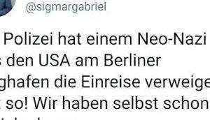 """Ex-Bundesaußenminister Thema """"Kein Mensch illegal"""" """"offene Grenzen/Gesellschaft"""""""